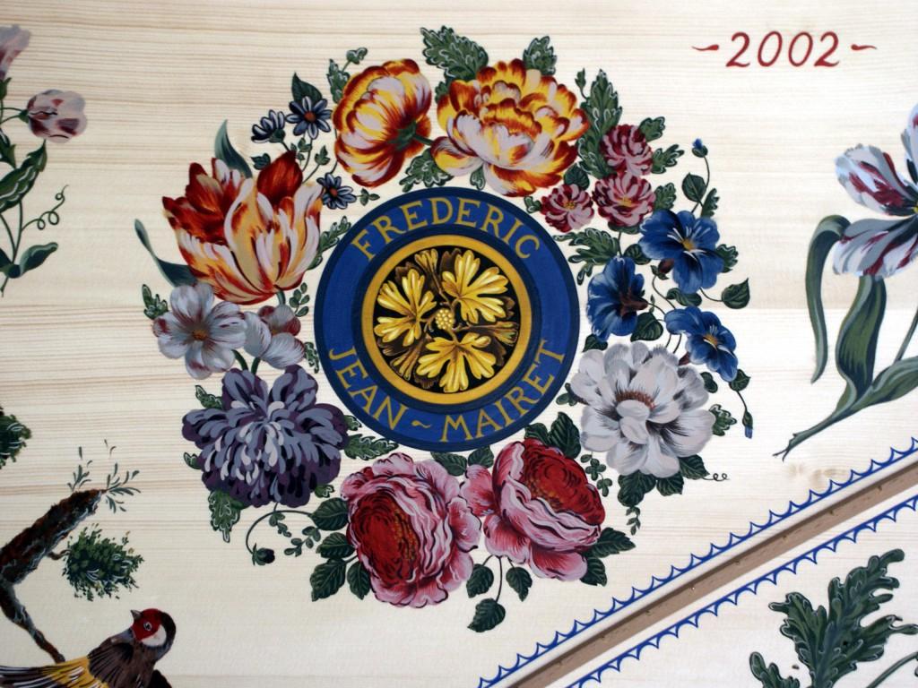 Peinture décorative table harmonie clavecin